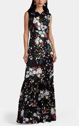 Erdem Women's Lilian Floral Silk Gown - Black Multi