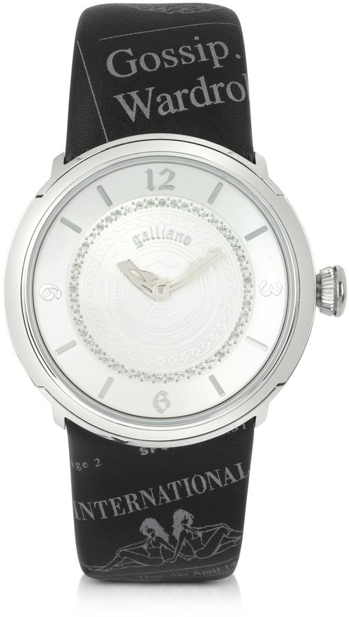 John Galliano Parlez-moi d'Eternite - Stainless Steel and Crystals Women's Watch