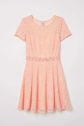 H&M Short Lace Dress - Orange