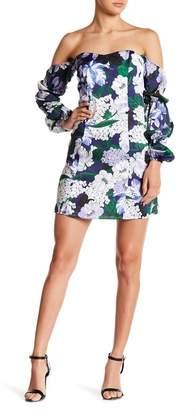 Alexia Admor Floral Print Off-the-Shoulder Dress
