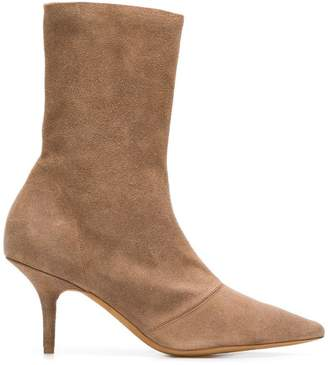 Yeezy pointed ankle boots
