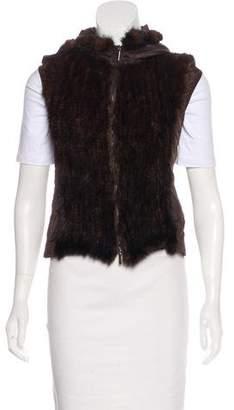 Max Mara 'S Mink Fur Trimmed Vest