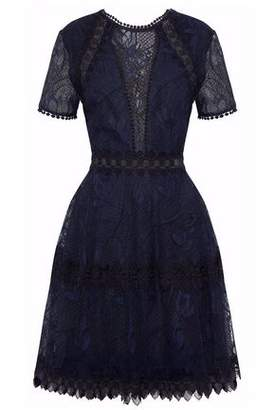 Nicholas Lace-Up Lace Dress