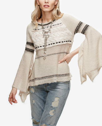 Free People Craft Time Bell-Sleeve Sweater $128 thestylecure.com