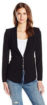 Haute Hippie Women's Blazer with Corset Lacing
