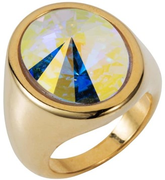 Nadia Minkoff Oval Ring Gold Crystal Ab