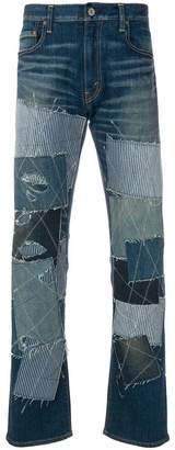 Junya Watanabe patchwork embroidered jeans