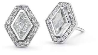 Of A Kind Walters Faith Keynes One Hexagon Diamond Stud Earrings