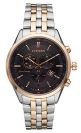 Citizen Citizen Eco-Drive Men's Two Tone Stainless Steel Chronograph Watch - AT2146-59E