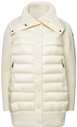 Moncler Cardigan with Virgin Wool, Cashmere and Down Filling