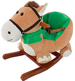 Happy Trails Rocking Horse Plush Animal with Sounds