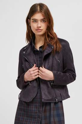 French Connenction Aimee Suedette Biker Jacket