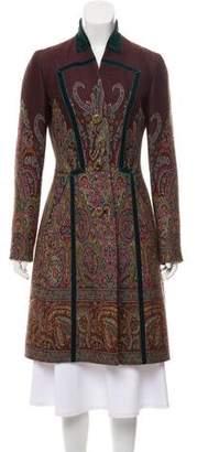 Etro Long Patterned Wool Coat