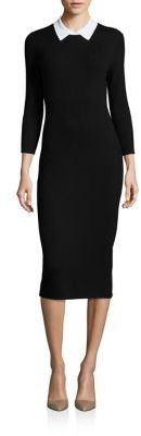 Trina Turk Bookish Collared Sweater Dress $328 thestylecure.com