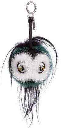 FendiFendi Marshmallow Mini Qutweet Monster Bag Charm