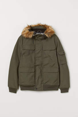 H&M Short Hooded Jacket - Green