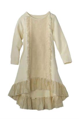 N. Peaches 'N Cream High-Low Lace Dress