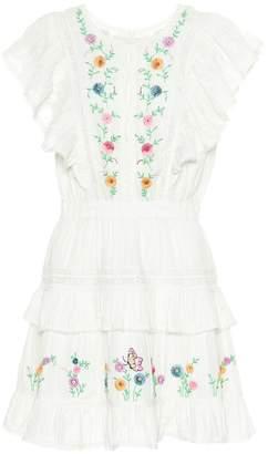 LoveShackFancy Romy floral cotton minidress