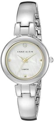 Anne Klein Women's AK/2079MPTT Diamond-Accented Two-Tone Bangle Watch