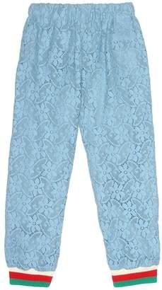 Gucci Kids Cotton-blend lace trackpants