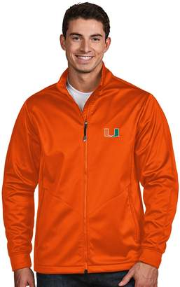 Antigua Men's Miami Hurricanes Waterproof Golf Jacket