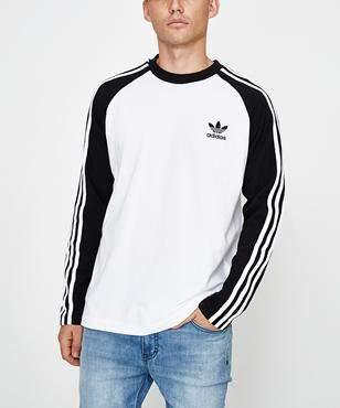 adidas 3-Stripes Long Sleeve T-shirt Black
