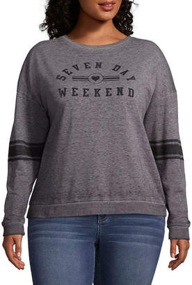 Fifth Sun Seven Day Weekend Sweatshirt - Juniors Plu