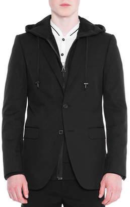 Lanvin Attitude Two-Button Soft Jacket