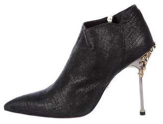 Cesare Paciotti Suede Embellished Booties