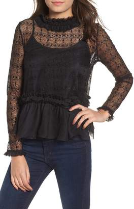 KENDALL + KYLIE Victorian Lace Top