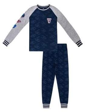 Petit Lem Boy's Hockey Patch Two-Piece Pyjama Set