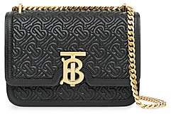 Burberry Women's Small TB Monogram Quilted Leather Shoulder Bag