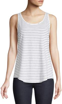 Eileen Fisher Pinstripe Cotton Tank Top
