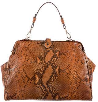 Brooks Brothers Snakeskin Frame Bag $225 thestylecure.com