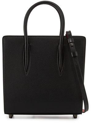 Christian Louboutin Christian Louboutin Paloma Small Spike Leather Tote Bag, Black