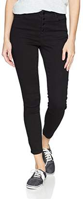 Fly London Black Daisy Women's Hi-Rise Button Skinny Jean Limited Edition