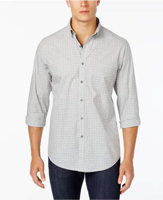 Club Room Men's Dot-Pattern Shirt with Pocket