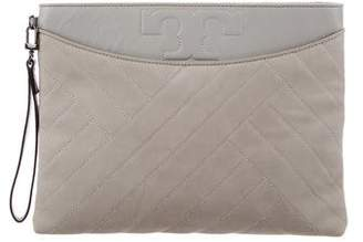 Tory Burch Quilted Suede Wristlet