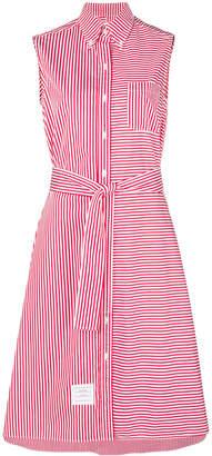 Thom Browne striped sleeveless shirt dress