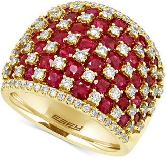 Effy Ruby (4-1/2 ct. t.w.) and Diamond (1-1/4 ct. t.w.) Ring in 14k Gold