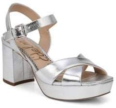 Sam Edelman Jolene Metallic Leather Platform Sandals