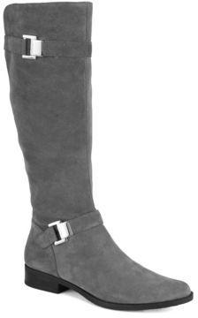Calvin Klein Suede Riding Boots