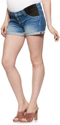 Paige Jimmy Jimmy Raw Cuff Denim Maternity Shorts