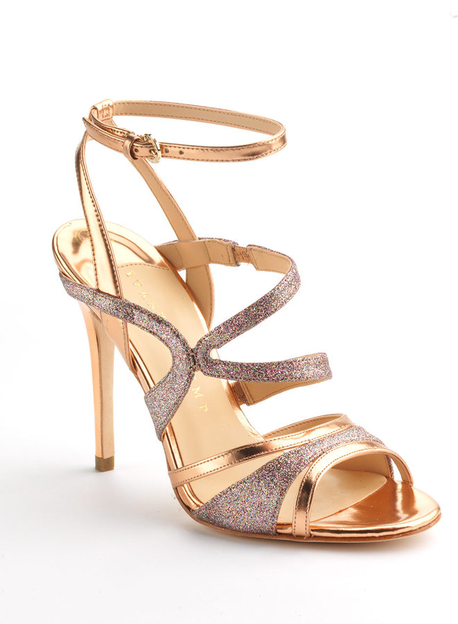 Ivanka Trump Halley Glitter Strappy Leather Sandals