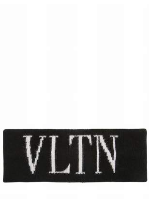 Valentino Logo Wool Blend Knit Headband