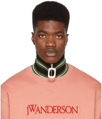 J.W.Anderson Green Thick Stripe Neck Band