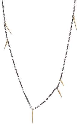 Marion Cage Small 18 Inch Point Scatter Necklace - Yellow Gold