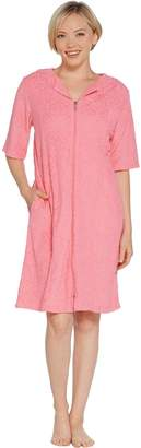 Stan Herman Baby Terry Break-Away Short Zip Robe