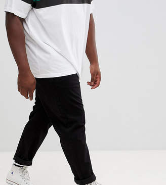 Jacamo wide leg tapered chino pants in black
