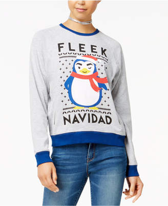 Mighty Fine Doe Juniors' Fleek Navidad Raglan Sweatshirt